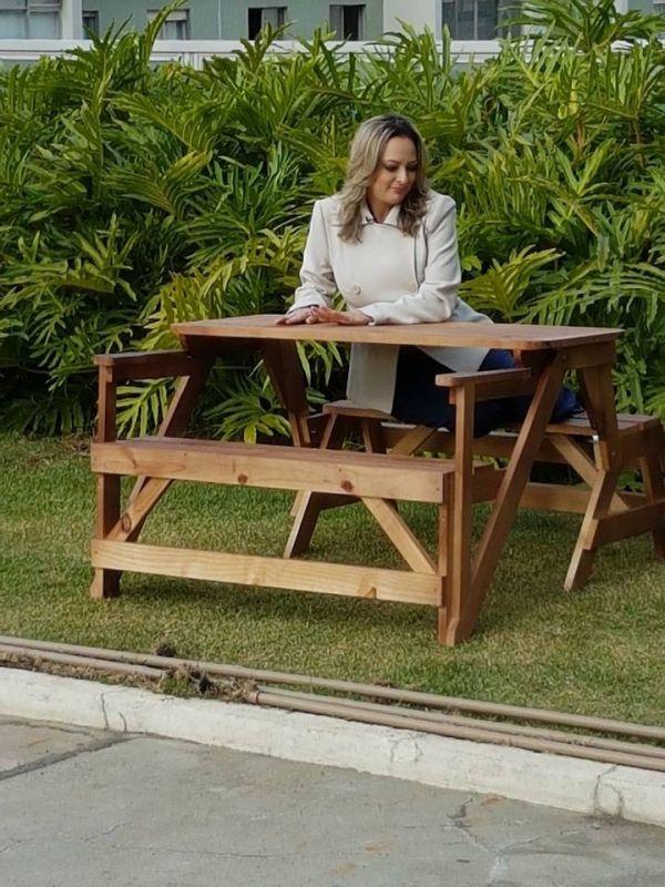 Mesa de Madeira Que Abre e Fecha Preço em São Bernardo do Campo - Mesa de Madeira Dobrável
