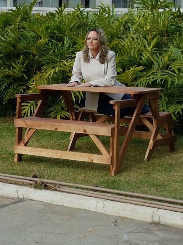 Mesa de Madeira Que Abre e Fecha Jardim Maranhão - Mesa de Madeira Rústica