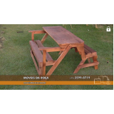 banco de madeira 4 lugares