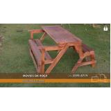 banco de madeira para sacada preço em Bauru