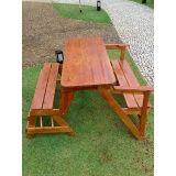 banco de madeira para varanda em Itatiba