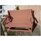 banco mesa de madeira em Mogi das Cruzes