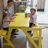 banco mesa dobrável em Suzano