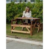 mesa de madeira quadrada 4 lugares
