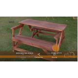 mesas de madeira desmontável em Juquitiba