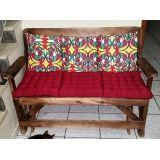 mesas de madeira que vira banco em Santo André
