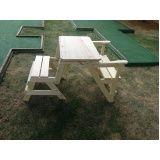 móveis de madeira para área externa preço ARUJÁ