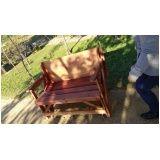 onde encontrar banco de madeira com encosto em Embu das Artes