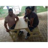 onde encontrar mesa banco de madeira em Jacareí