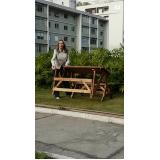 onde encontrar mesa banco dobrável de madeira em Taboão da Serra