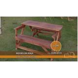 onde encontrar mesa de madeira desmontável em Vinhedo