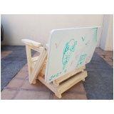 prateleira de madeira rústica em Jandira