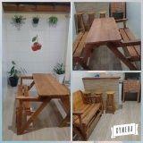 quanto custa mesa de madeira dobrável em São Carlos